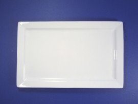 Rectangle White Ceramic Platter C
