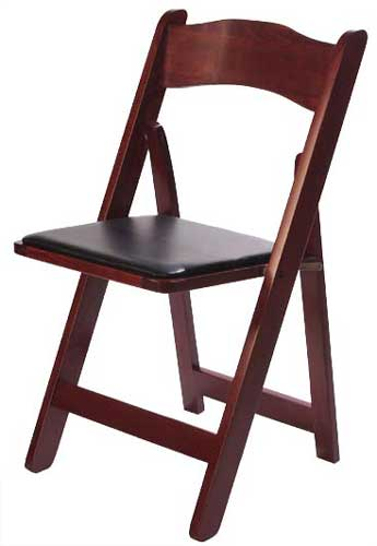 Mahogany Wood Folding Chair